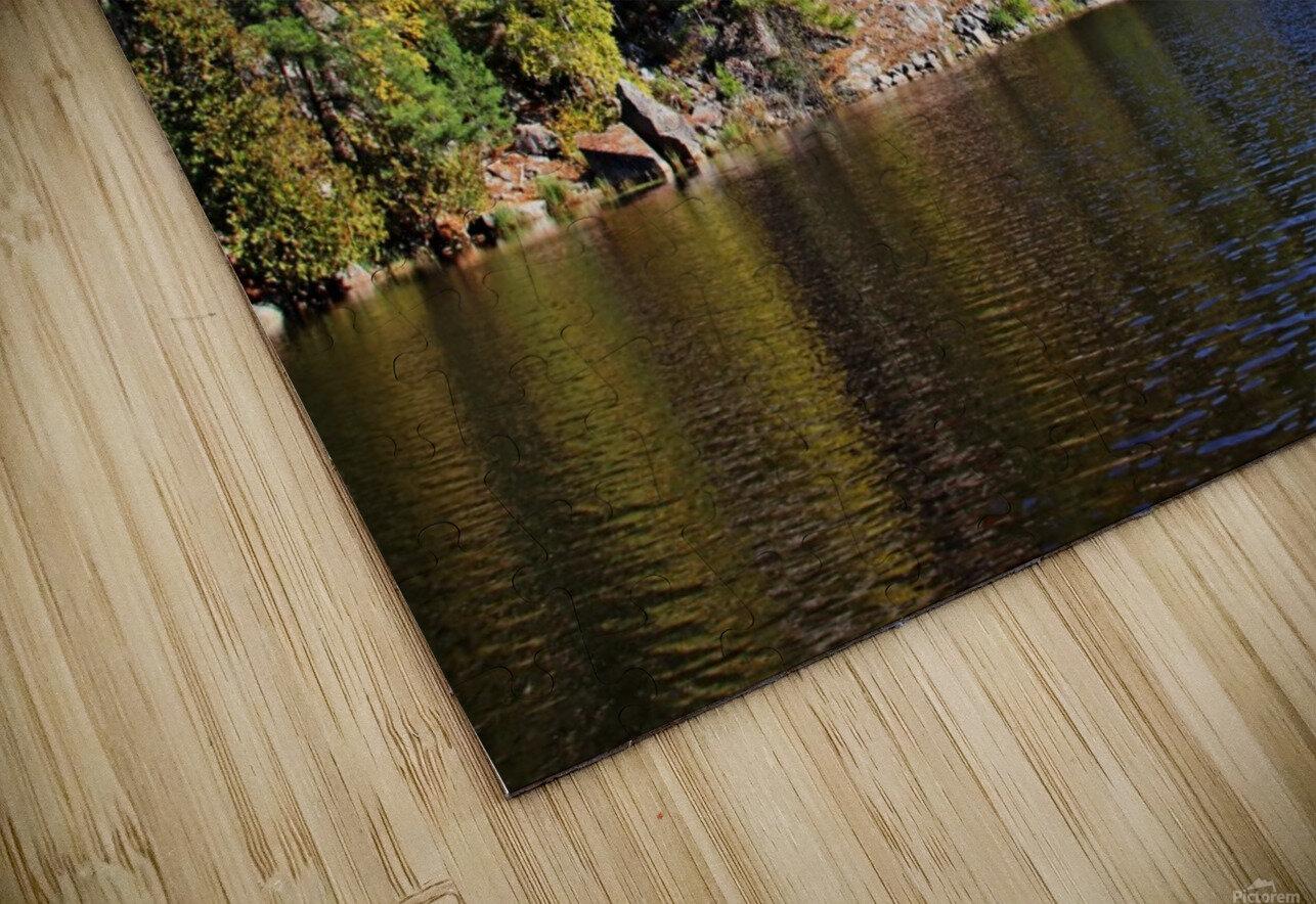 Key River Shore In Fall II HD Sublimation Metal print