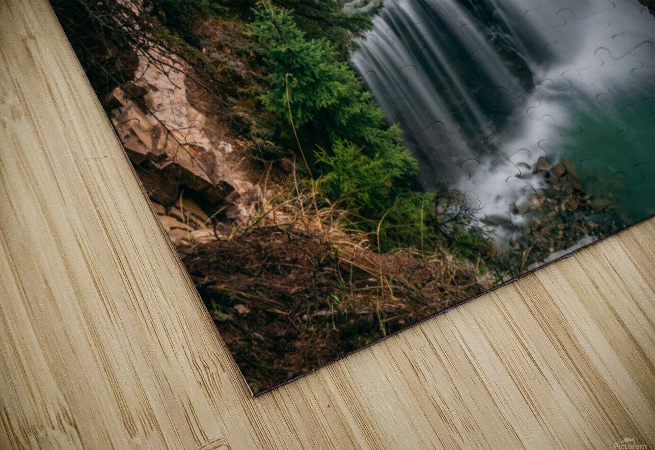 Johnson Canyon Trail Falls Long Exposure HD Sublimation Metal print