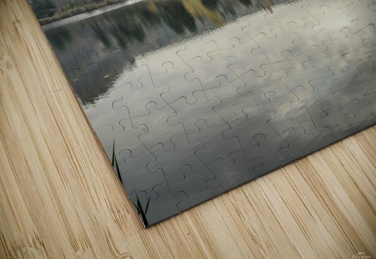 Autumn Lake Reflections HD Sublimation Metal print