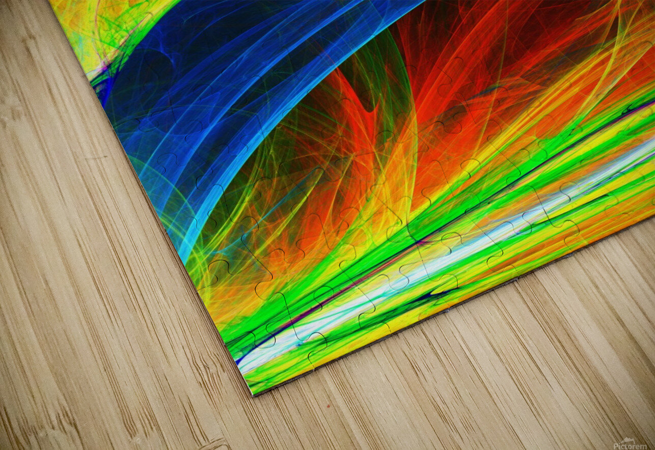 Abstract Composition 395 HD Sublimation Metal print