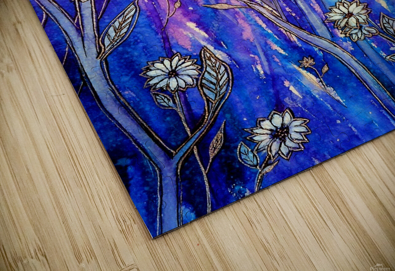 Wild Daisies HD Sublimation Metal print