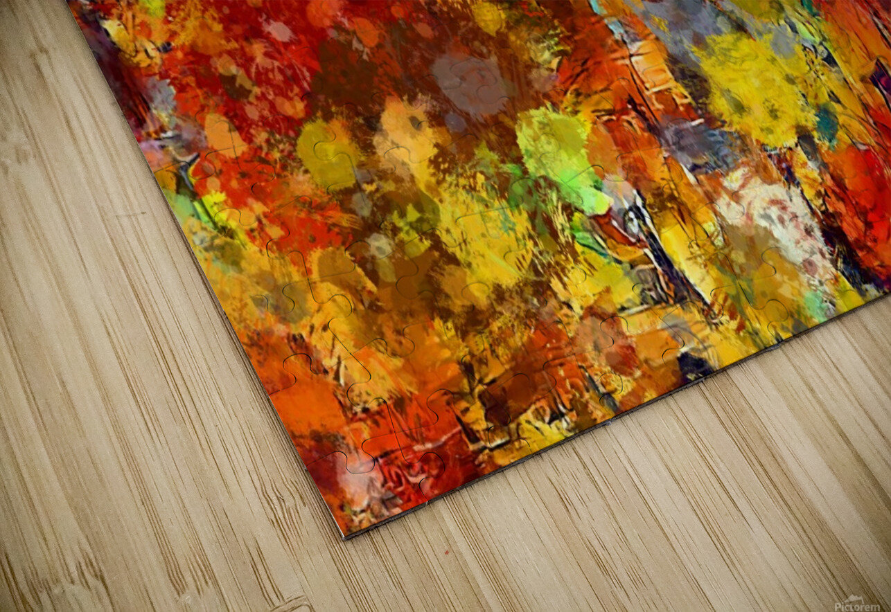 Autumn Leaves Abstract  HD Sublimation Metal print