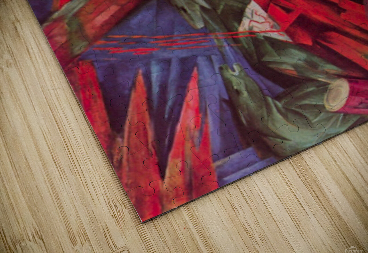 Animal Fates by Franz Marc HD Sublimation Metal print