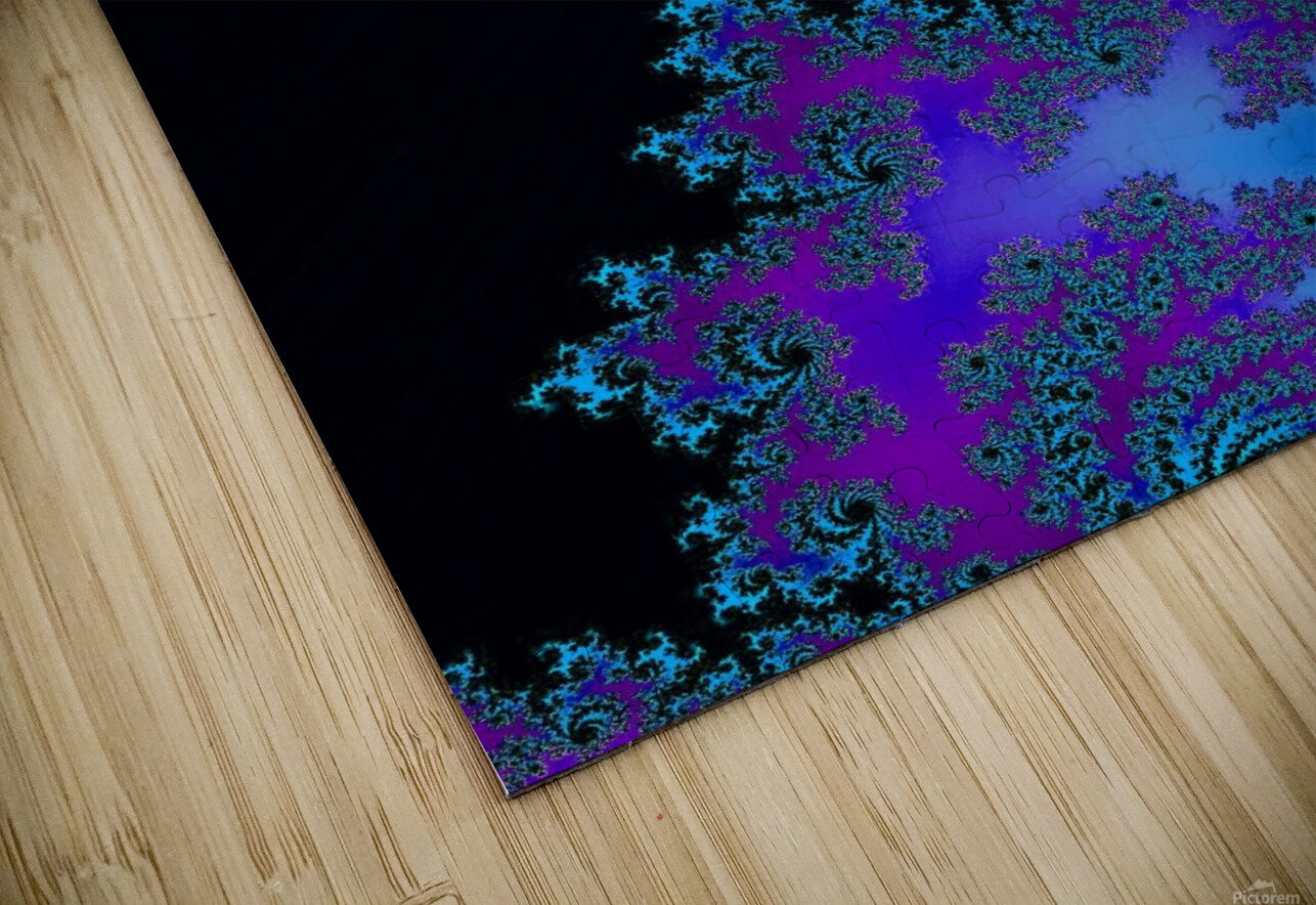 Moonlight  In The Forest Flowers 2  HD Sublimation Metal print
