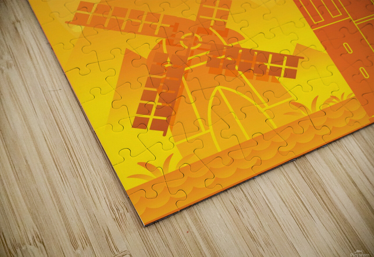 Travel To Netherlands HD Sublimation Metal print