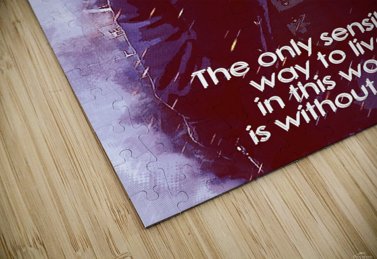 The only sensible way to live in this world is without rules HD Sublimation Metal print