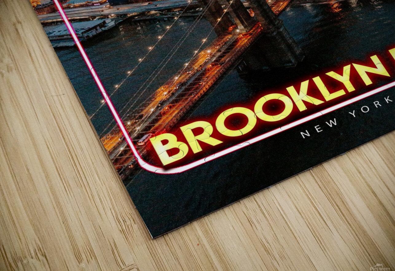 Brooklyn Bridge   New York city HD Sublimation Metal print