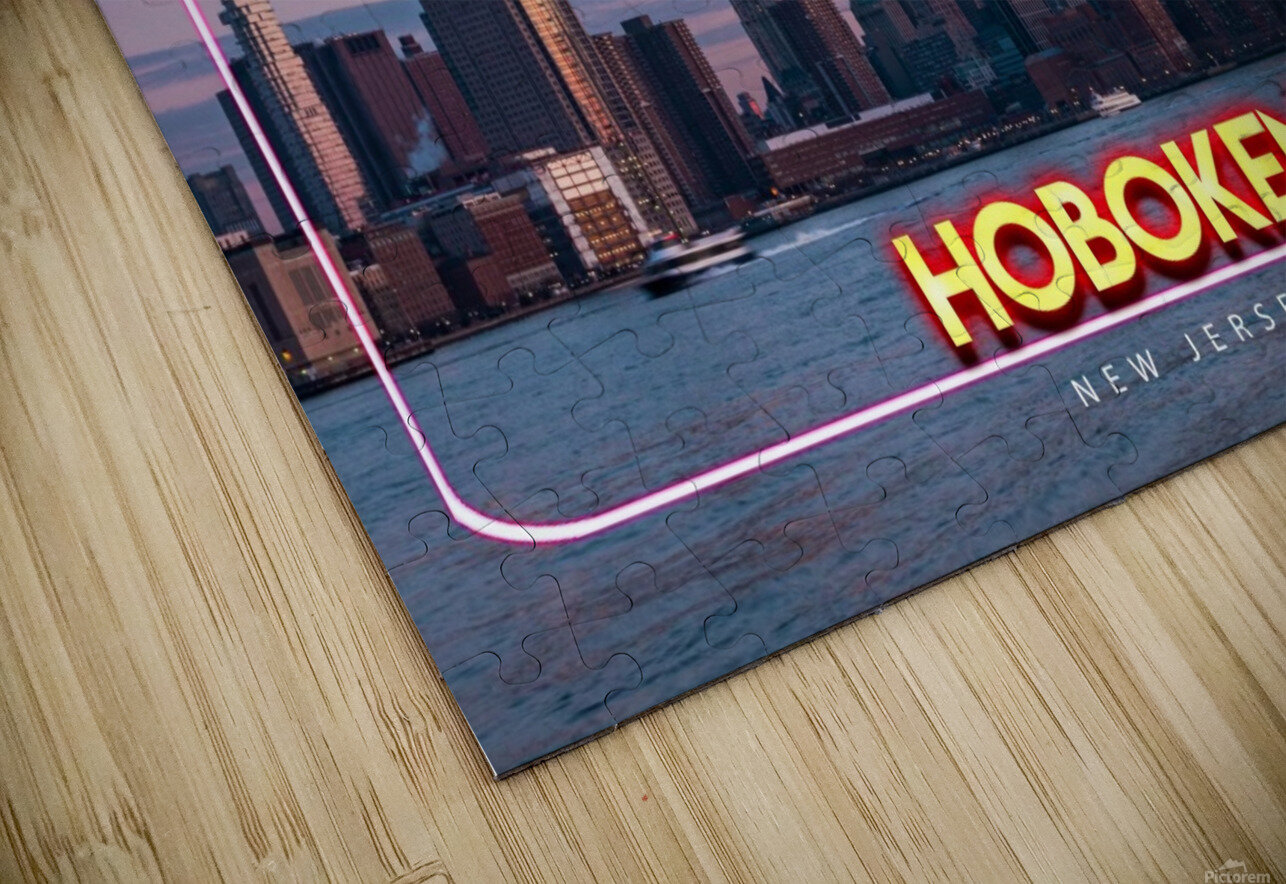 Hoboken   New Jersey HD Sublimation Metal print