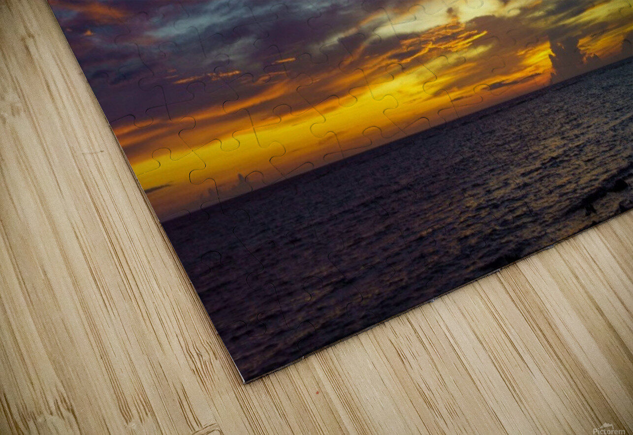 Colorful Caribbean Sky at Grand Cayman HD Sublimation Metal print