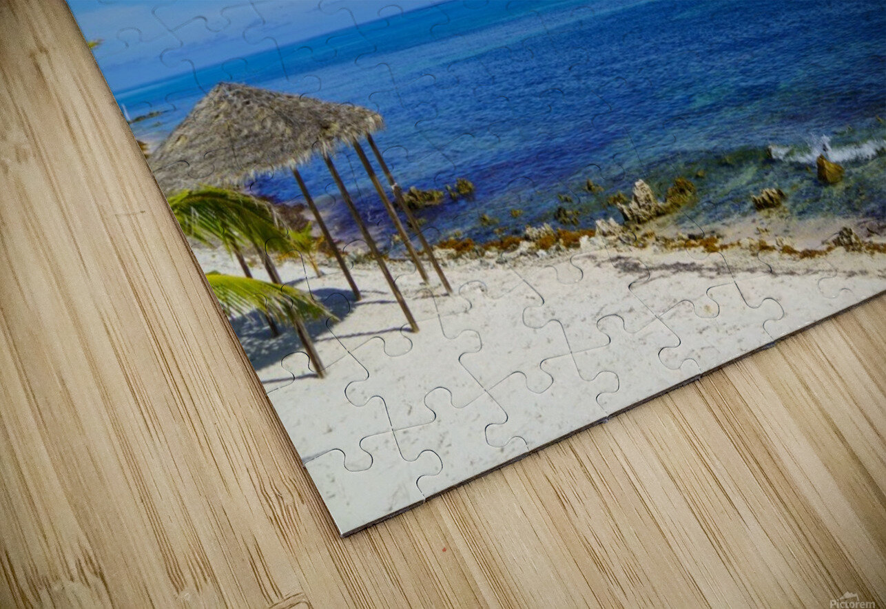 Caribbean Blues at Grand Cayman HD Sublimation Metal print