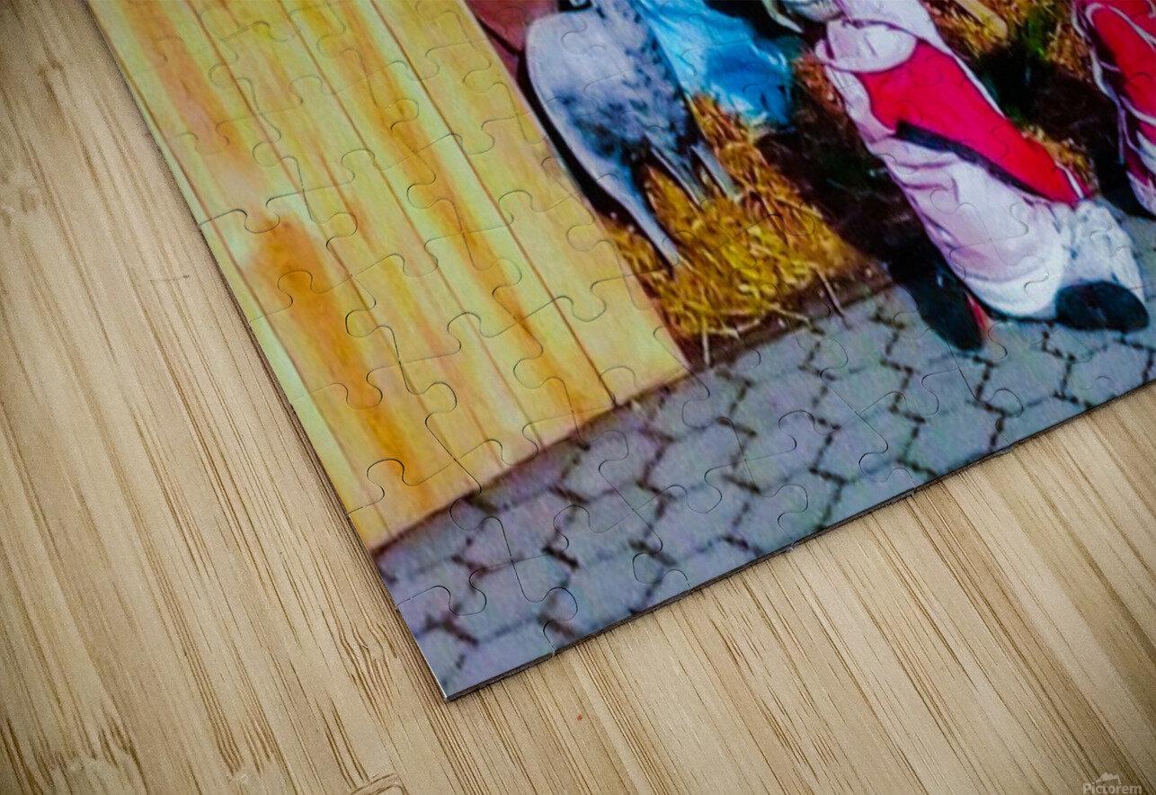 Hungarian Nativity Scene HD Sublimation Metal print