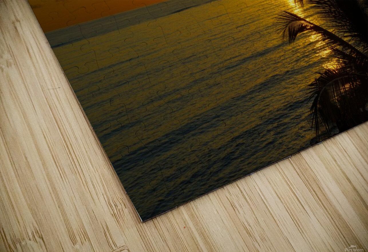 Caribbean Sunrise HD Sublimation Metal print