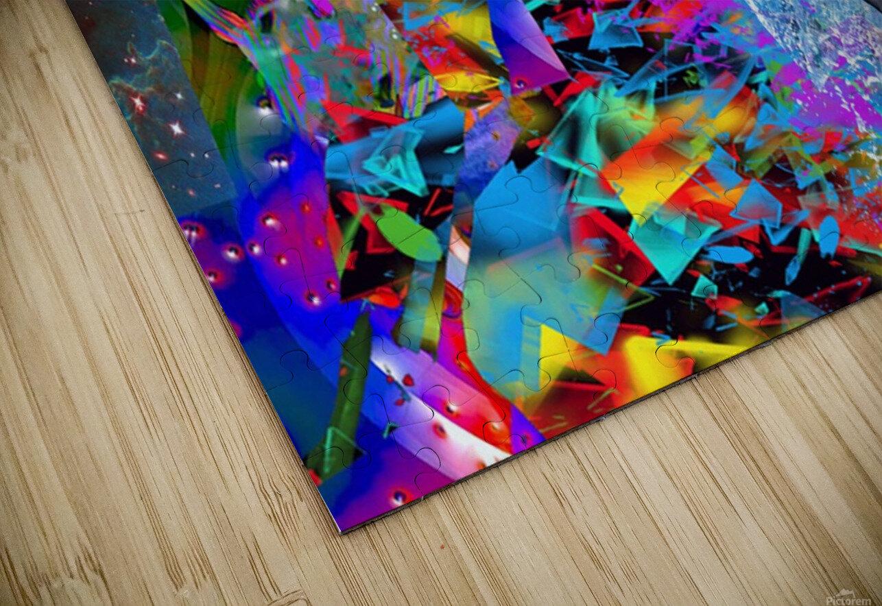 Dolphin Color Splash HD Sublimation Metal print