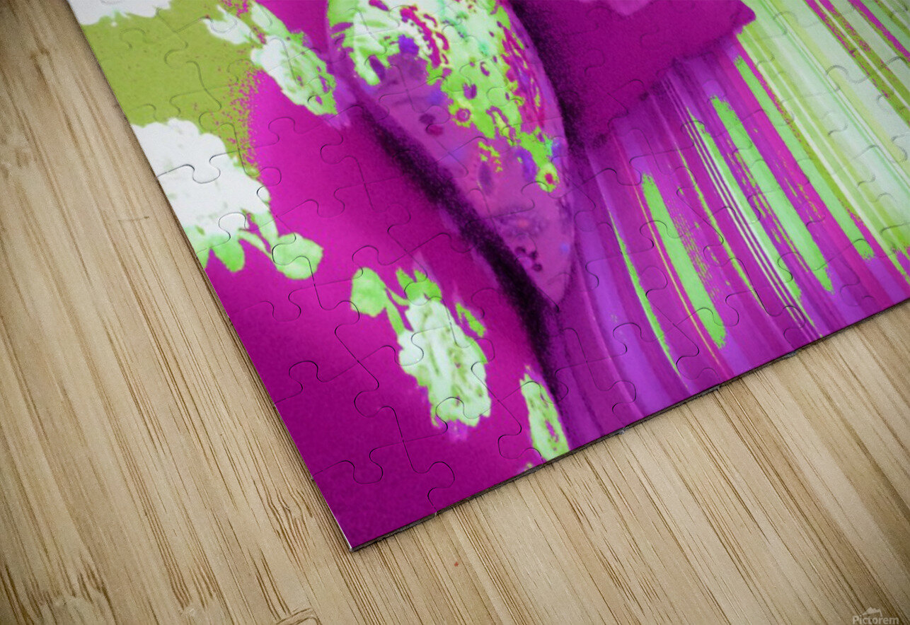 Sofa & Pillows -- Purple & Green HD Sublimation Metal print