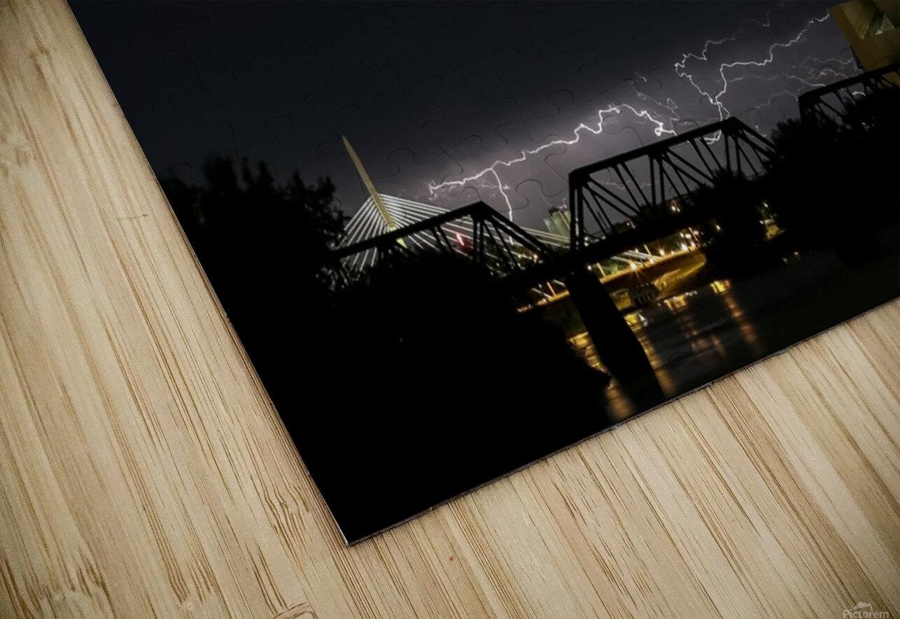 Winnipeg Skyline Storm HD Sublimation Metal print