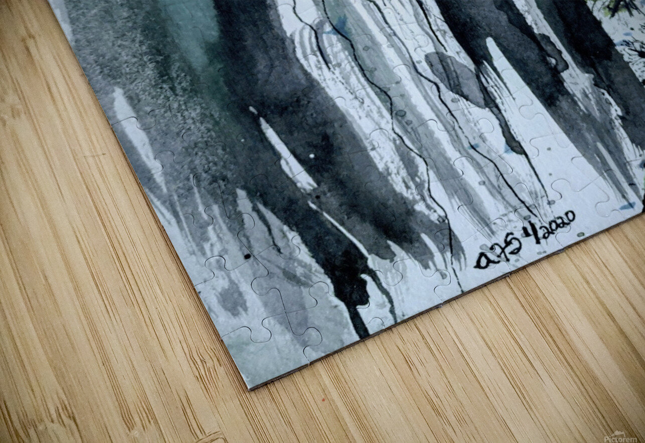 Serenity in Ink HD Sublimation Metal print