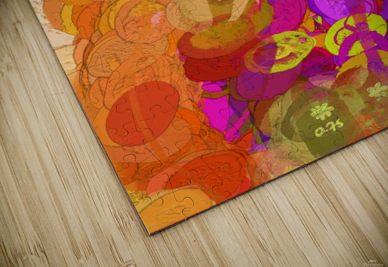Pink and orange HD Sublimation Metal print