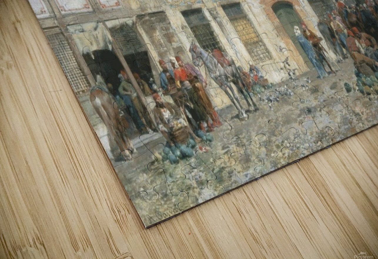 The market of Constantinople HD Sublimation Metal print