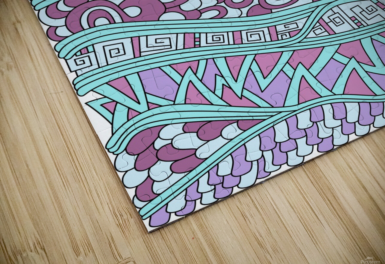 Wandering Abstract Line Art 03: Pink HD Sublimation Metal print