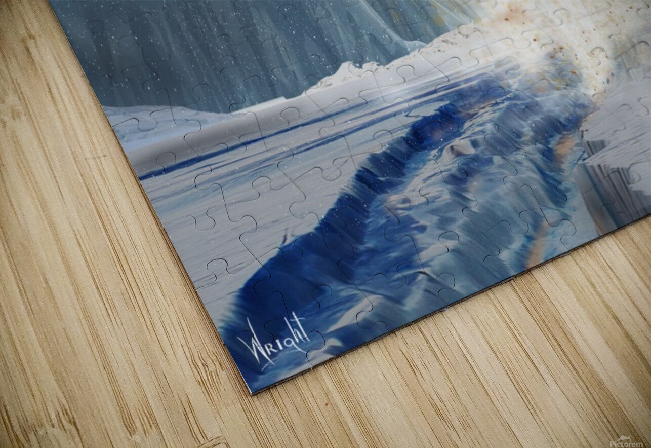 Geyser on Europa HD Sublimation Metal print