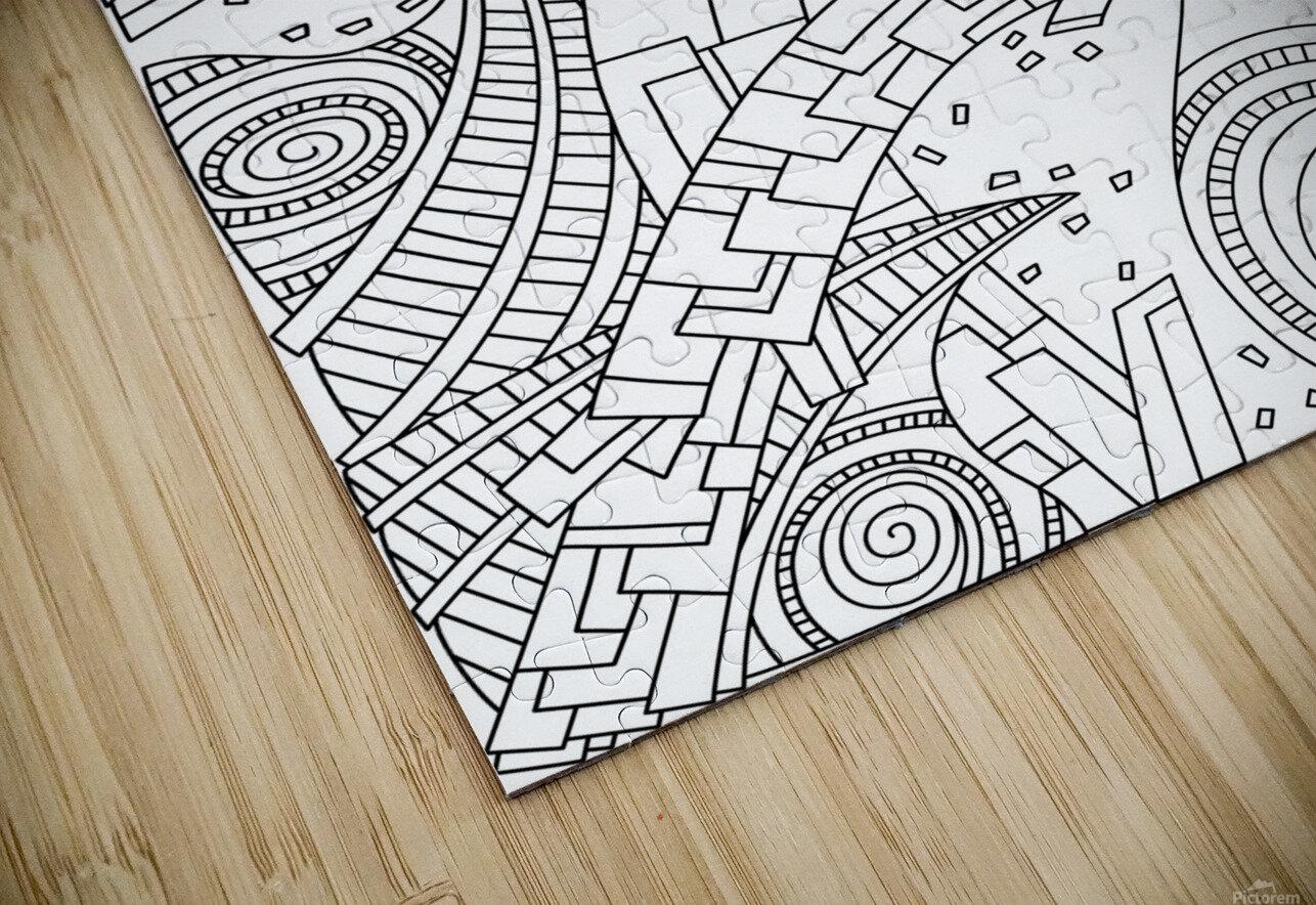 Wandering 10: black & white line art HD Sublimation Metal print
