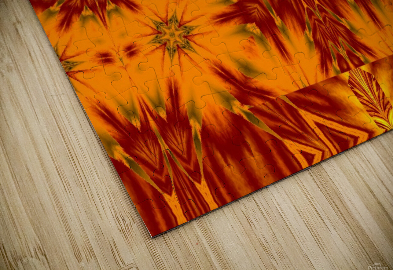 Gold Star of the Meadow HD Sublimation Metal print