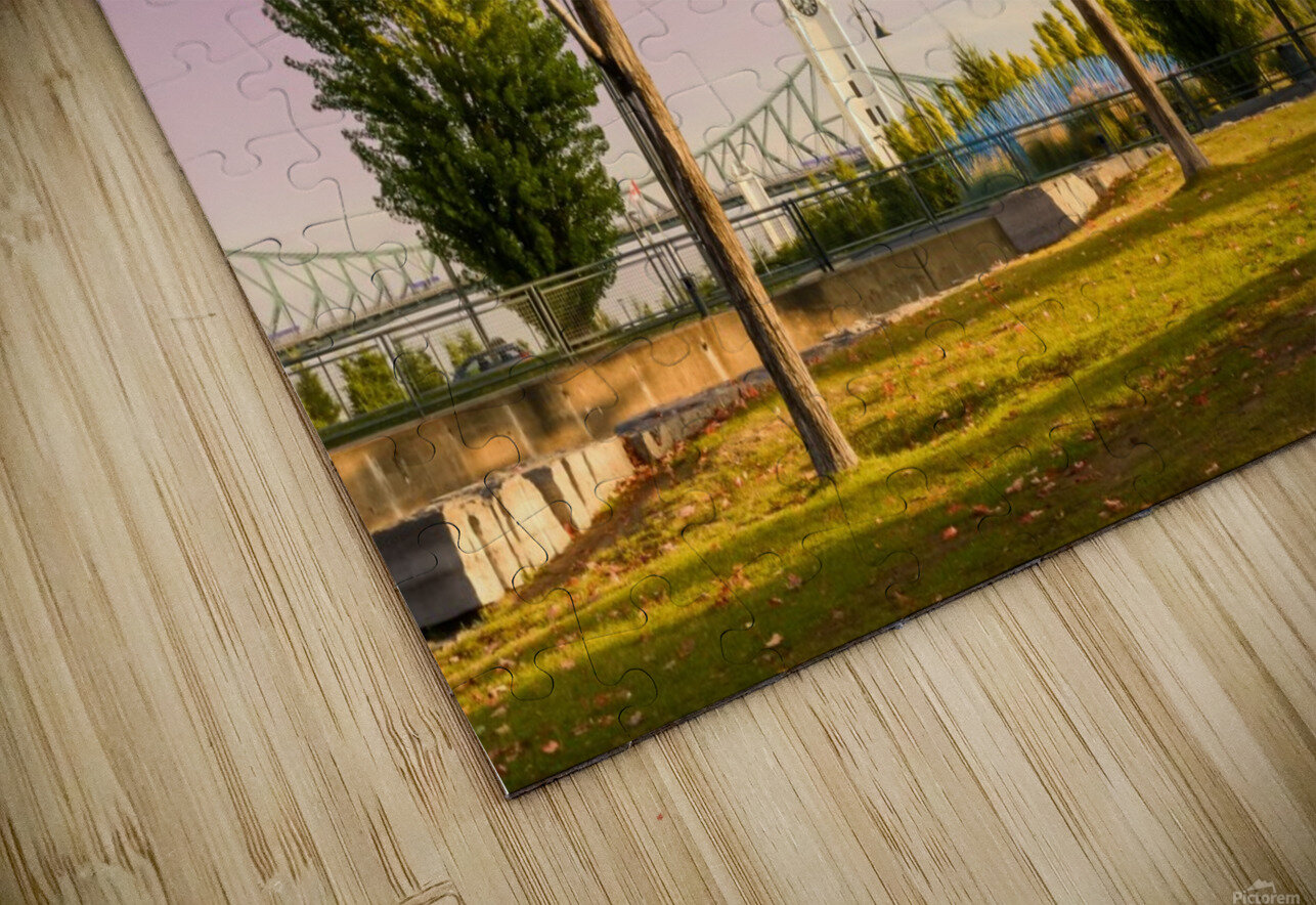 Autumn In The Old Port Of Montreal HD Sublimation Metal print