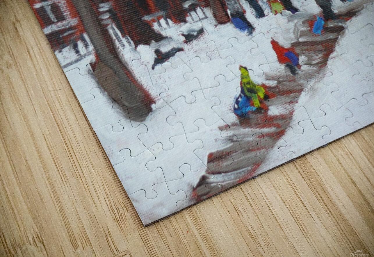 Park LaFontaine Tobogganing HD Sublimation Metal print