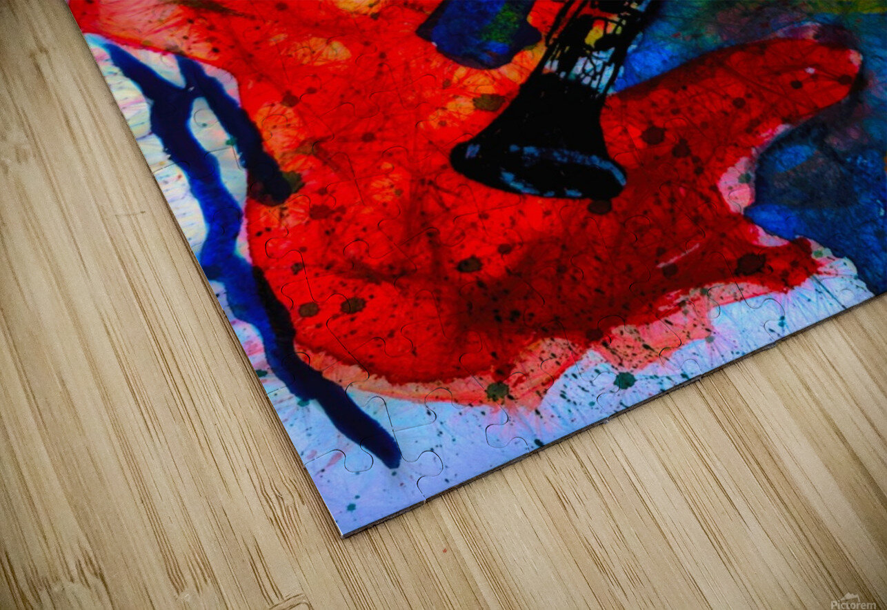 Clarinet electrified HD Sublimation Metal print