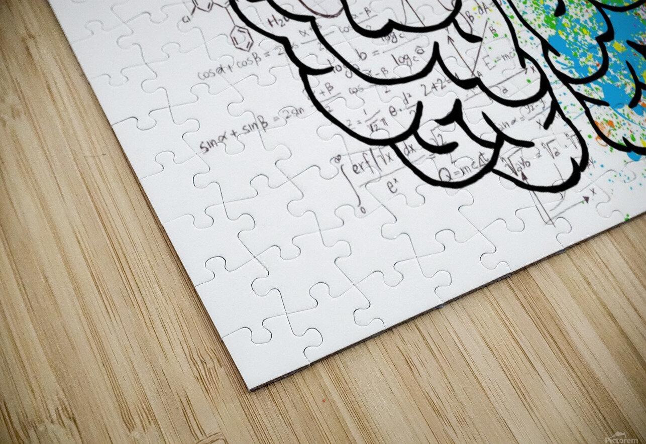 brain mind psychology idea drawing HD Sublimation Metal print