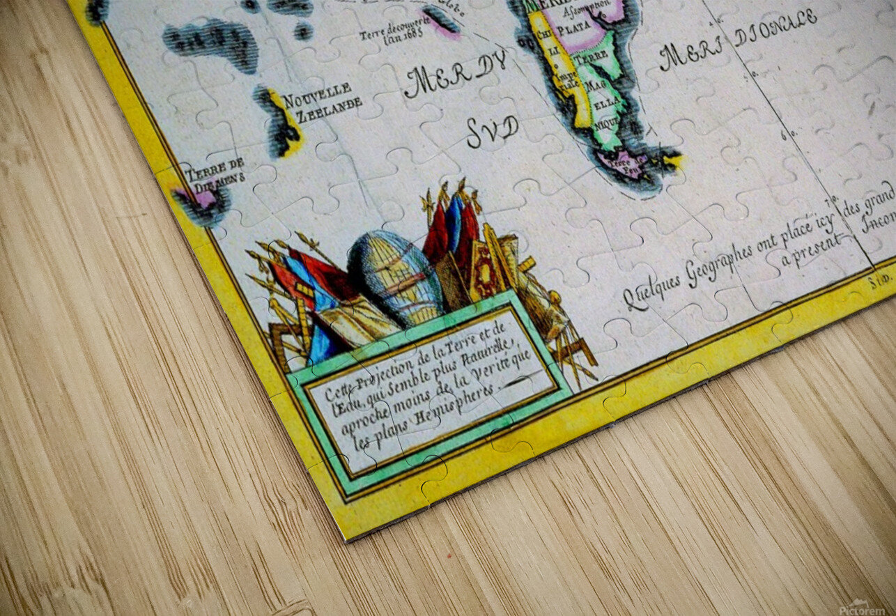 Ancient World Map 4 HD Sublimation Metal print