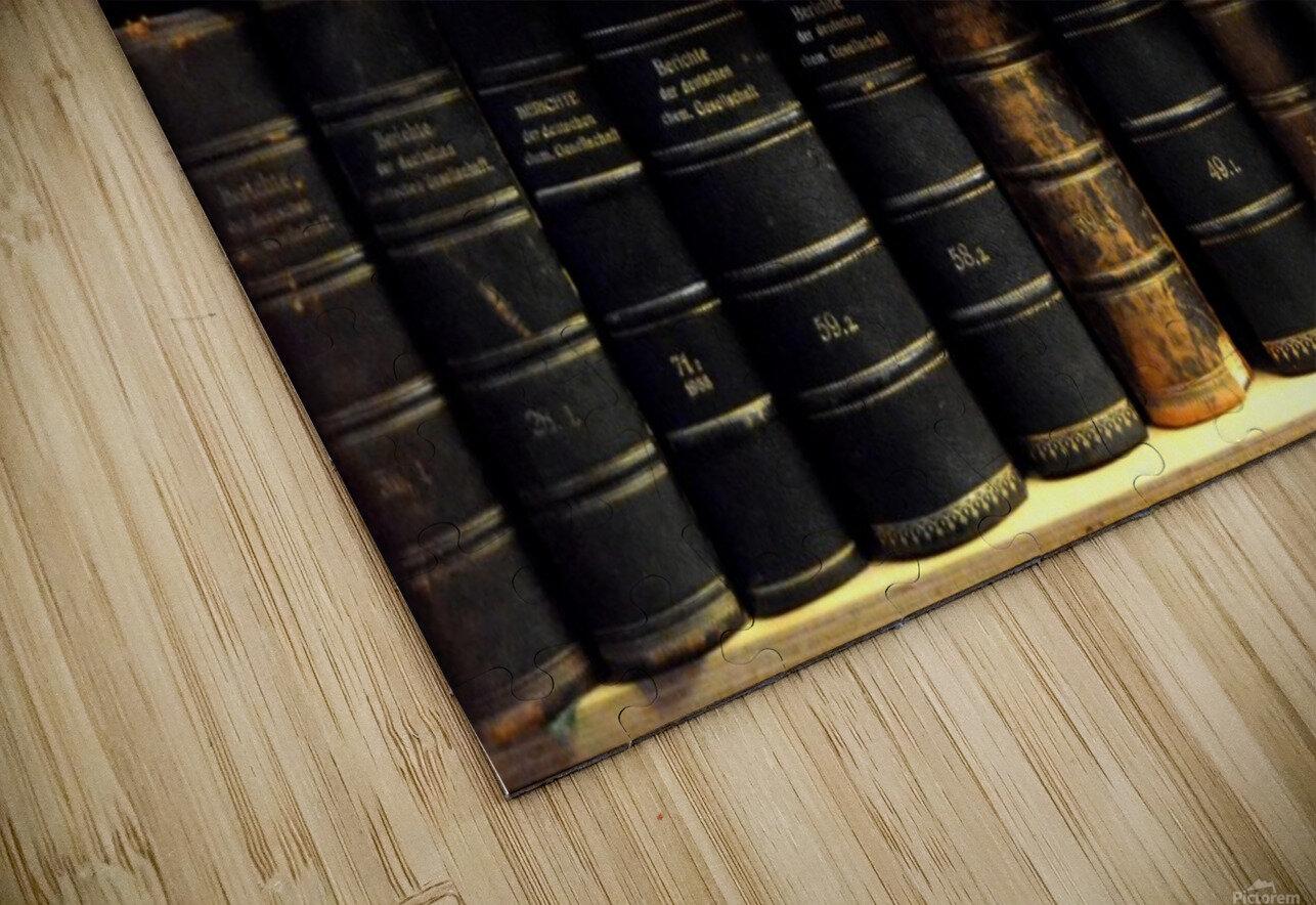 books old vintage library shelves HD Sublimation Metal print