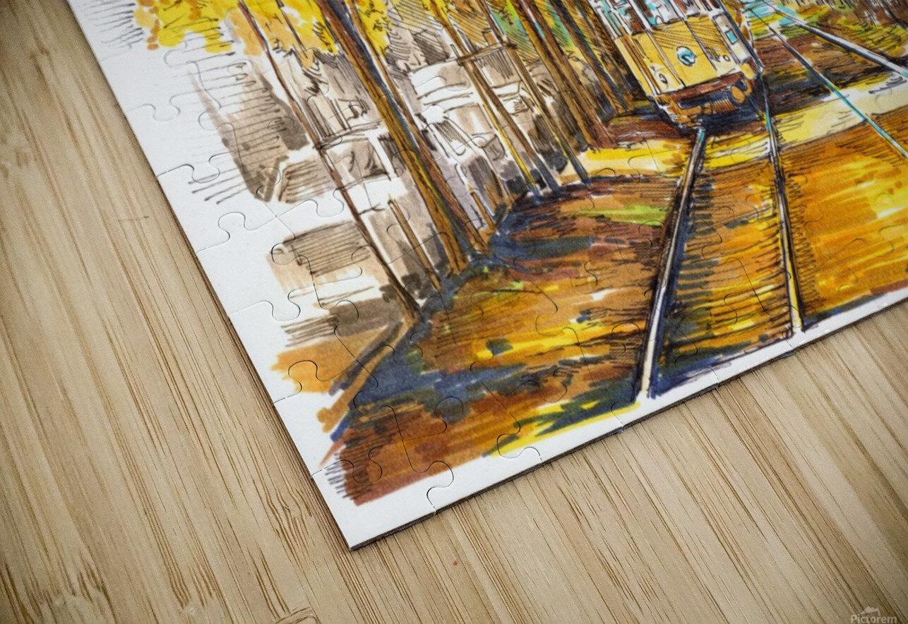 Autumn_Blues HD Sublimation Metal print