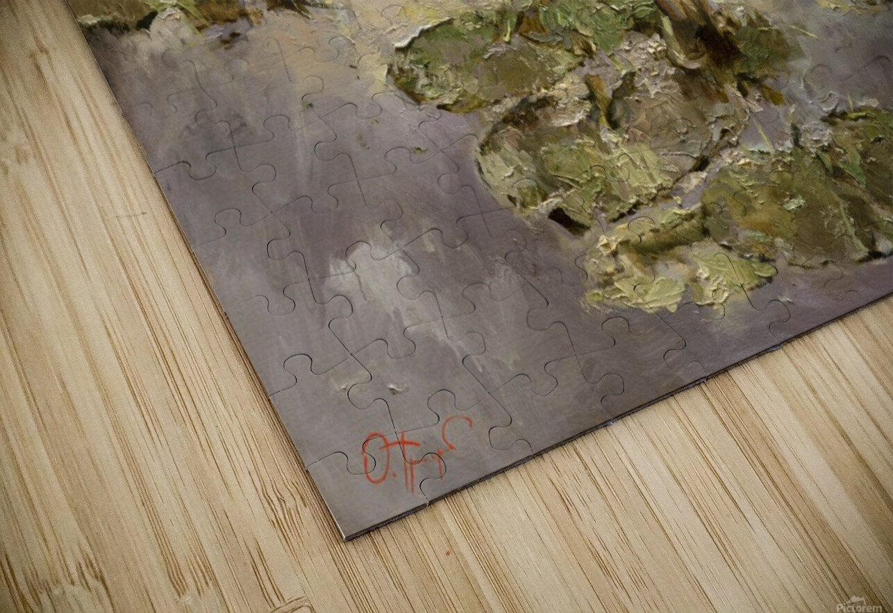 Old_pond HD Sublimation Metal print