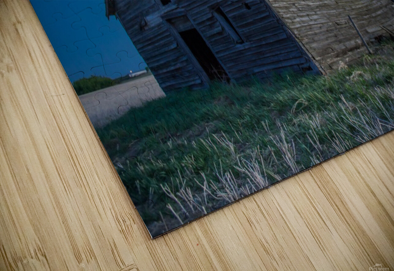 Leaning Barn HD Sublimation Metal print