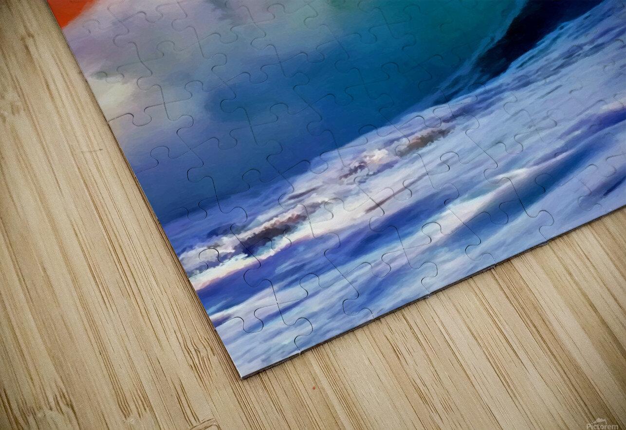 Sunset Wave HD Sublimation Metal print