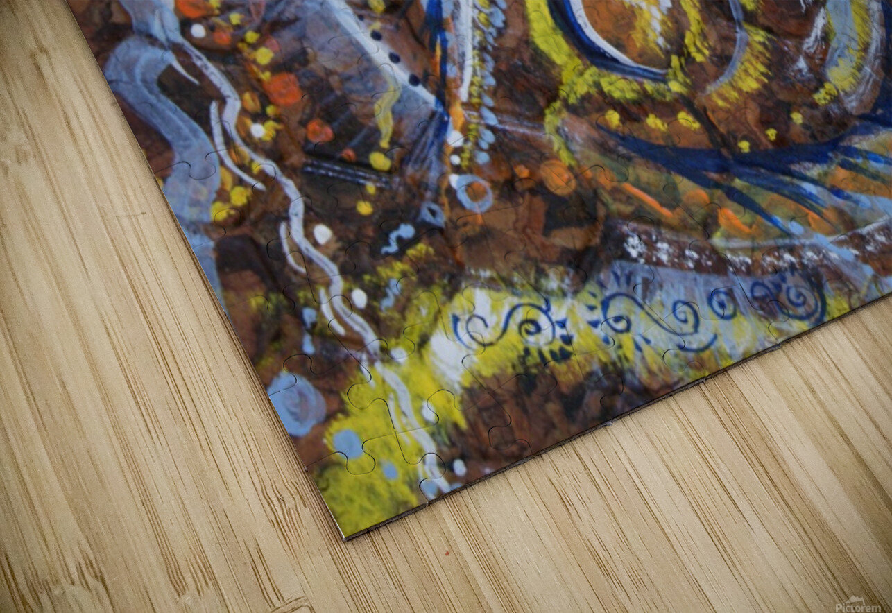 A celebration of Cedar from the Shamanic dance HD Sublimation Metal print