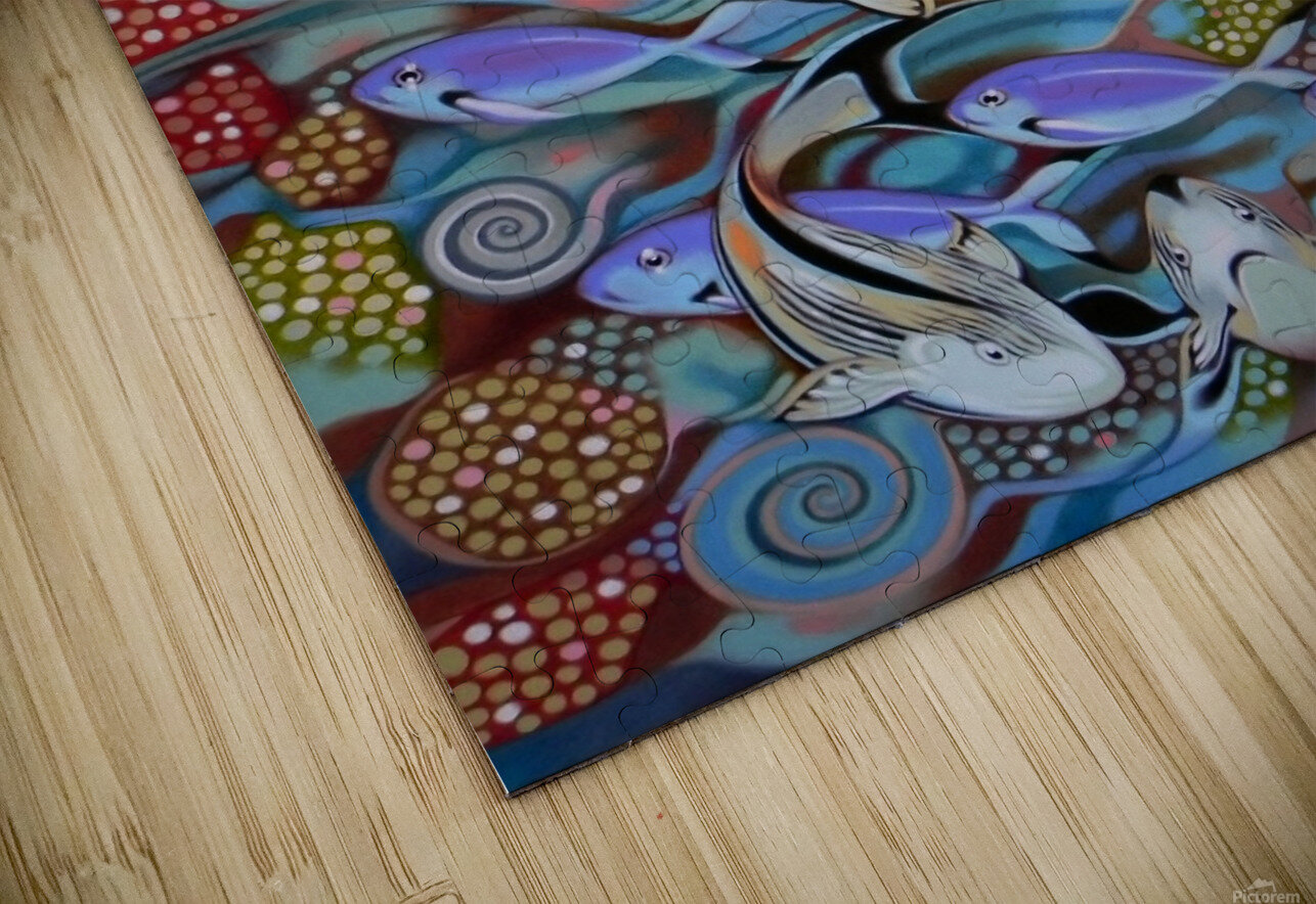Memory of the coral reef HD Sublimation Metal print