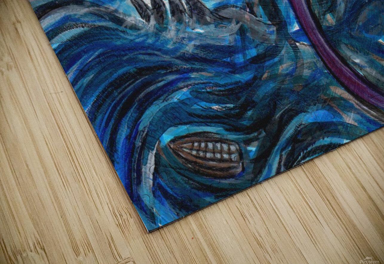 Sea Monster, 1 HD Sublimation Metal print