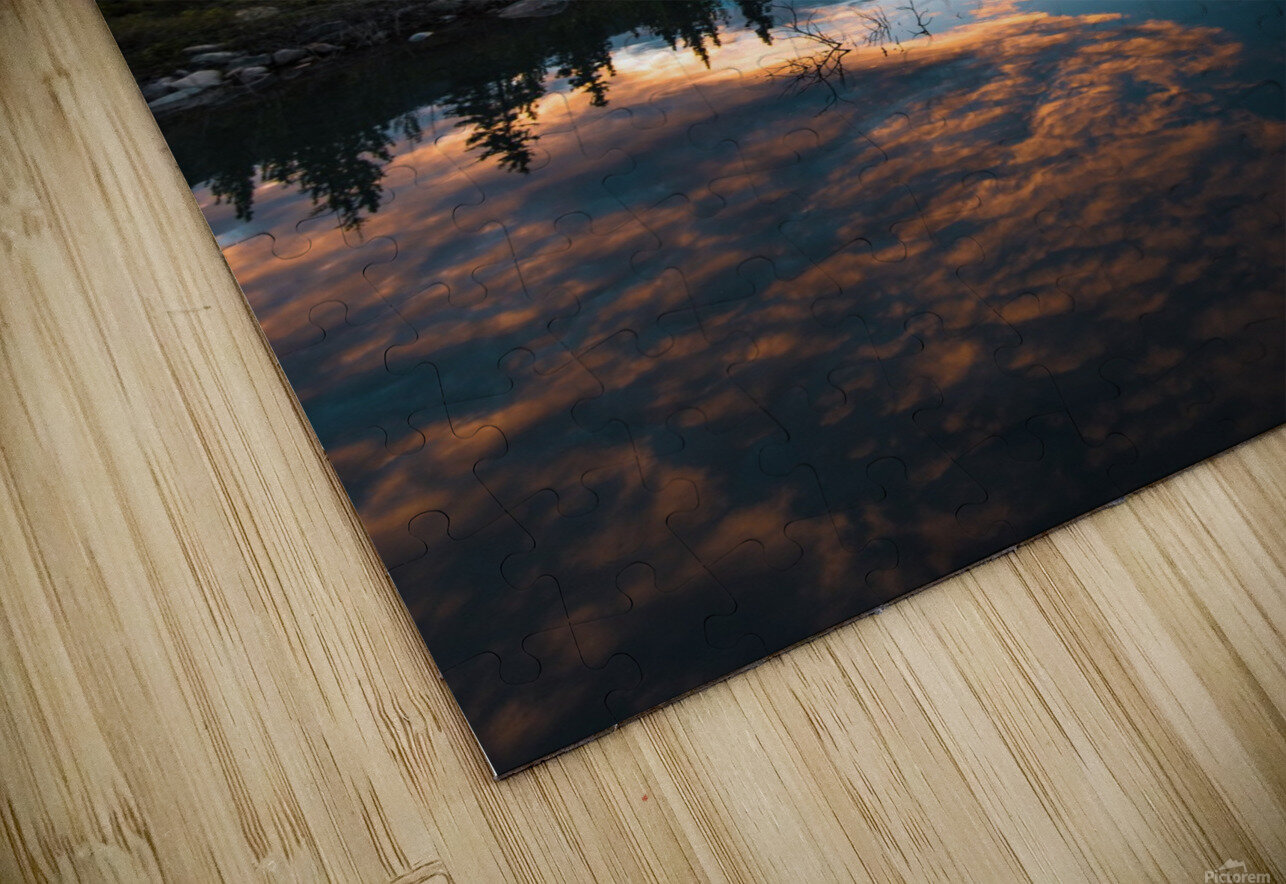 Sunset Reflection HD Sublimation Metal print