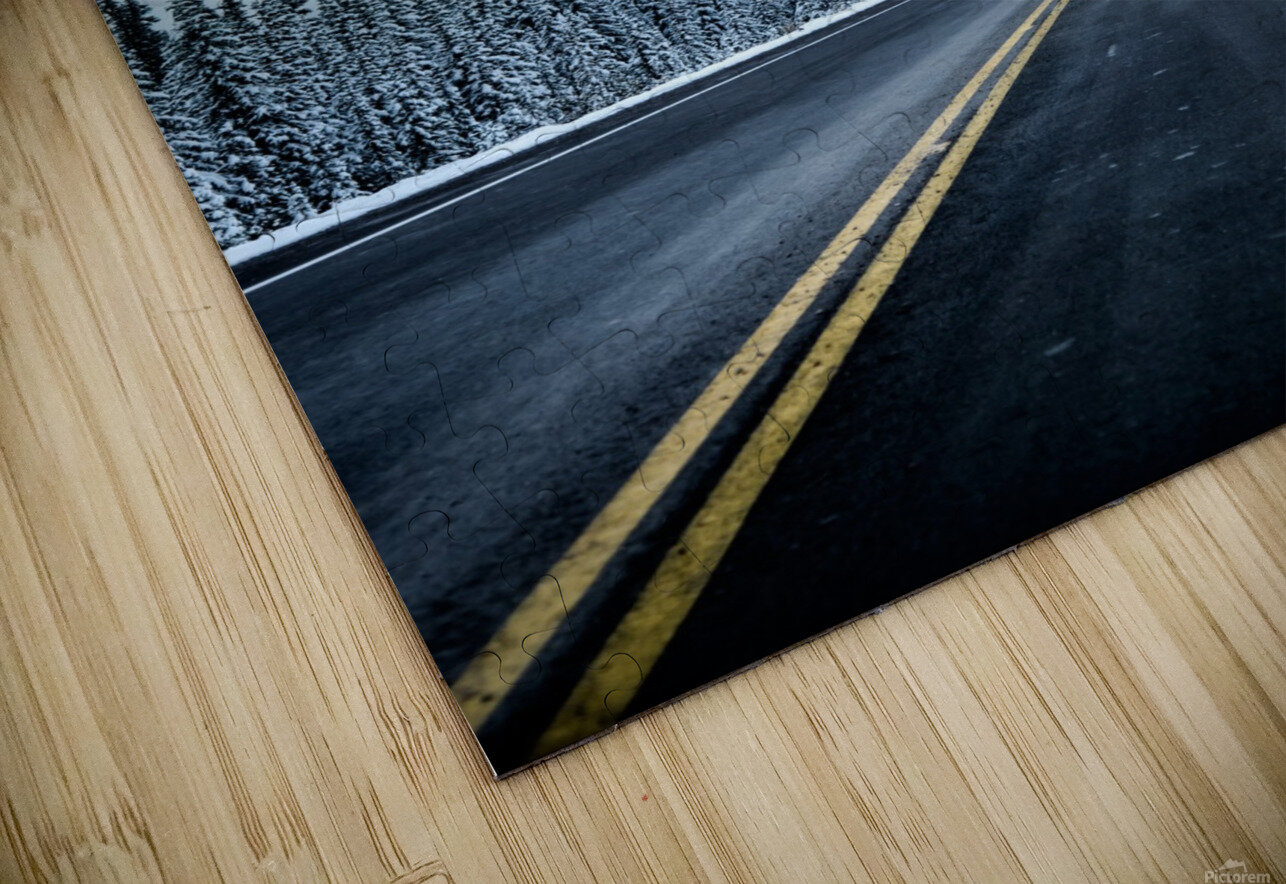 Icy Roads HD Sublimation Metal print