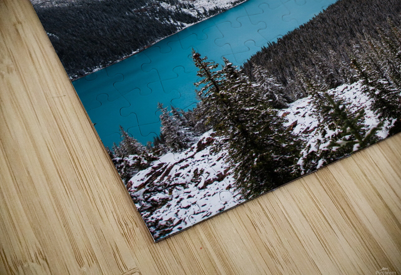 Wintry Peyto Lake HD Sublimation Metal print