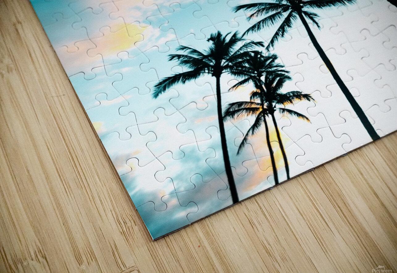 Palm Tree Sunrise HD Sublimation Metal print