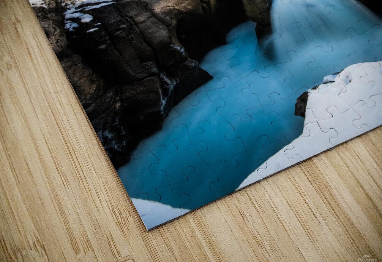 Snowy Sunwapta Falls HD Sublimation Metal print