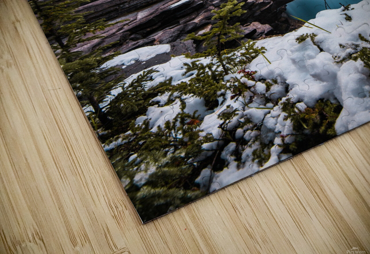 Wintry Waterfall HD Sublimation Metal print