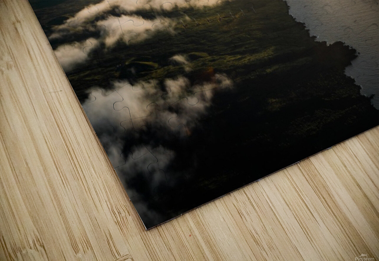 Maui From Above HD Sublimation Metal print