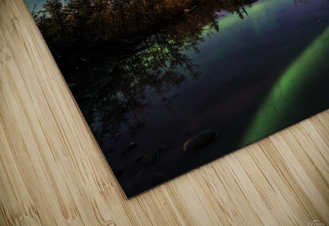 Aurora Reflections HD Sublimation Metal print