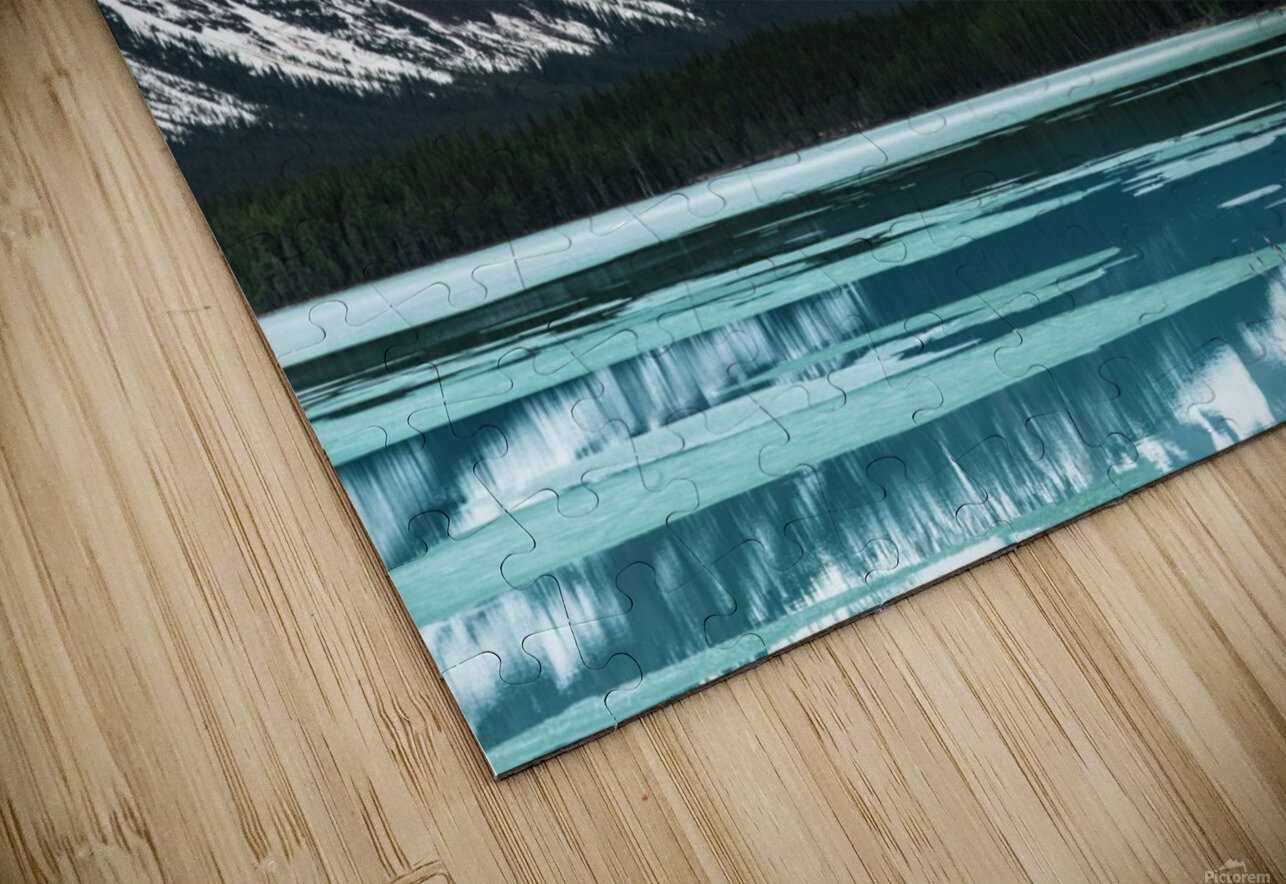 Winter Lake HD Sublimation Metal print