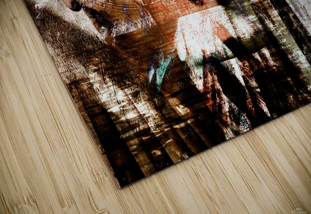 Face Abstract HD Sublimation Metal print