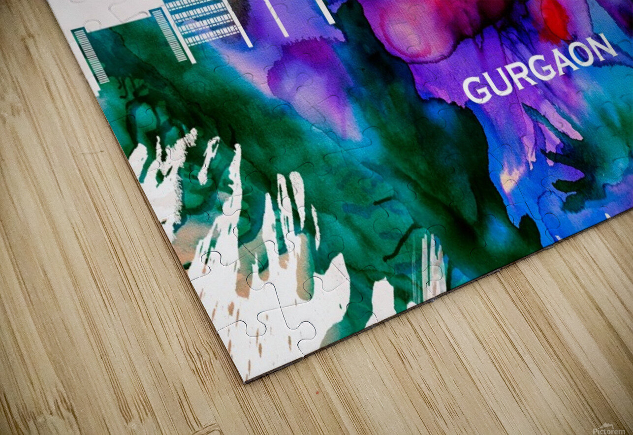 Gurgaon Skyline HD Sublimation Metal print